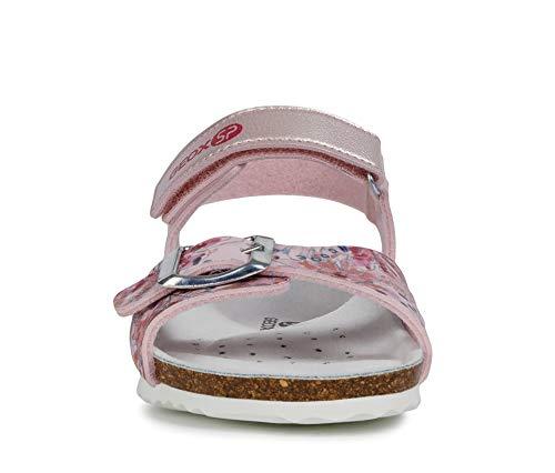 Geox Adriel Girl J928MB Girl Sandals,Sandals,Kids Low-Footbed Sandal,Slipper,Summer Shoe,Summer Sandal