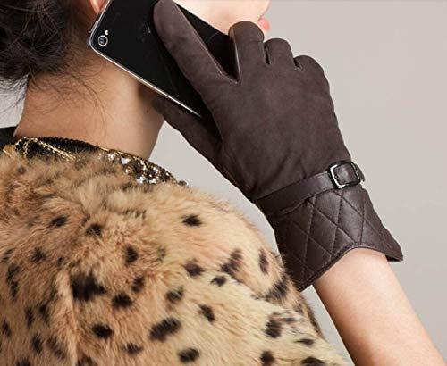 In Lunghi A Brown Chic Donna Guanti Colori Hx Da Invernali Fashion Corti Ragazza Camoscio 6 w6W8Exxztq