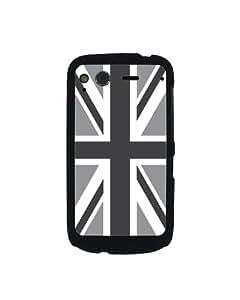 CoverYours - Carcasa para HTC Desire S, diseño de la bandera de Reino Unido, color blanco y negro