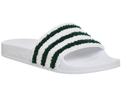 adidas Adilette, Chaussures de Plage et Piscine Homme Blanc