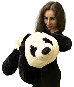 Amazon.com: Big Stuffed Panda 3 Feet Long Squishy Soft 36 Inches Large Plush  Floppy Bear: Toys U0026 Games