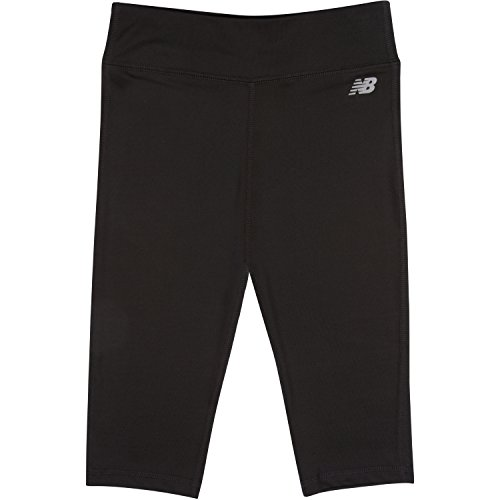 New Balance Big Girls' Performance Capri, Black, (New Balance Comfort Pant)