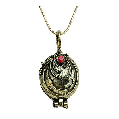 Graceful Goods Vampire Elena Inspired Antique Gold Tone Opening Locket -
