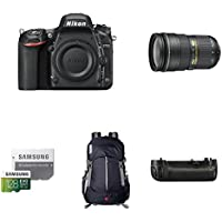 Nikon D750 FX-Format DSLR Camera with 24-70mm Lens Deluxe Battery Grip Bundle