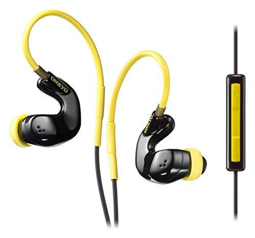 ONKYO sport earphone canal type / Waterproof / remote control with microphone / ear-hook type IE-S100CTI (B) (Black)