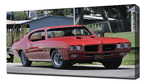 Lilarama USA 1970 Pontiac GTO Judge Hardtop Coupe V5 - Canvas Art Print - Wall Art - Canvas - Hardtop Pontiac Gto Judge