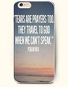 """iPhone 6 Case,OOFIT iPhone 6 (4.7) Hard Case **NEW** Case with the Design of """"Tears are prayers too. They travel to God when we can't speak."""" Psalm 56:8 - Case for Apple iPhone iPhone 6 (4.7) (2014) Verizon, AT&T Sprint, T-mobile wangjiang maoyi"""