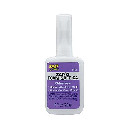 Zap Foam - (Ship from USA) Pacer Glue Zap-O Foam Safe CA Glue, .7 oz PAAPT25