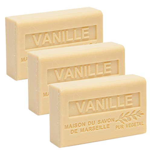 Maison du Savon - Set of 3 Soaps with Shea Butter, Vanilla, 3x125 g