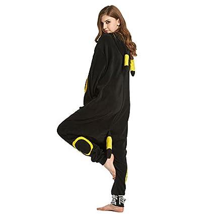 MH-RITA Unisex pijamas de invierno mujer negro guapo Asistente Cartoon Home desgaste femenino pijamas