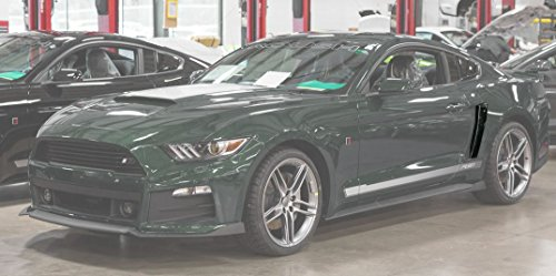 2015-2019 Mustang Roush Painted Quarter Panel Side Scoops - Guard Green HN