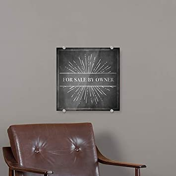 16x16 5-Pack Chalk Burst Premium Brushed Aluminum Sign CGSignLab for Sale by Owner