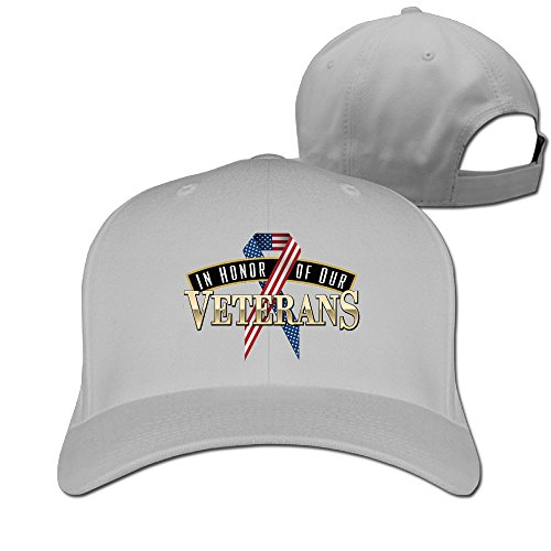 In-Honor-Of-Our-Veterans Classic Cotton Fitted Peak Cap - Memorial City Mall Shops In