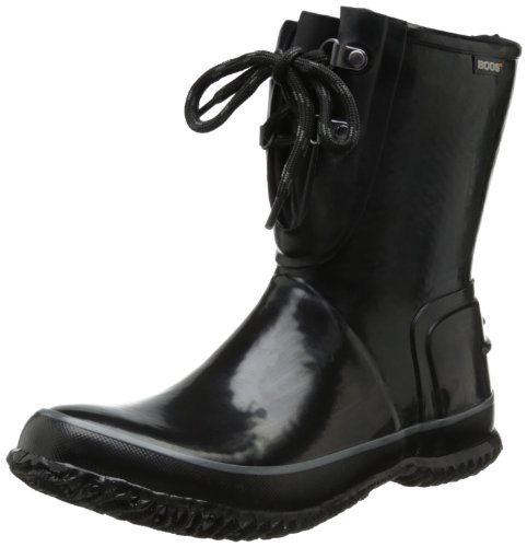 Urban Bogs Boot Lace Eye 2 Famer Black Waterproof Women's f5n5qwBAv