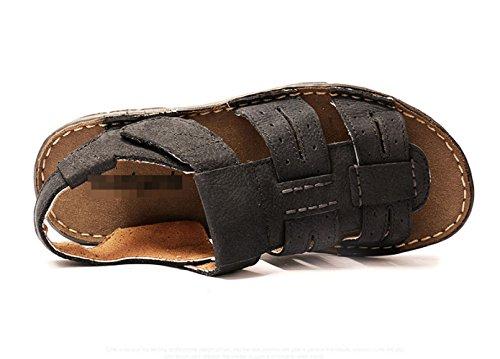 Uomo Toe da Spiaggia Comode da Blue da Uomo Estivi Traspiranti Casual Sandali Scarpe Sandali Scarpe LEDLFIE Open OXzpZ6q