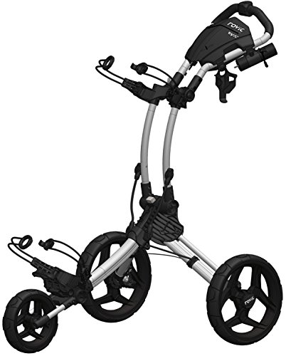 Clicgear Rovic Model RV1C Compact | 3-Wheel Golf Push Cart (Silver/Black)