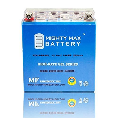 Mighty Max Battery YTX16-BS Gel Battery for Kawasaki Vulcan Nomad, Drifter 1500CC 99-05 Brand ()