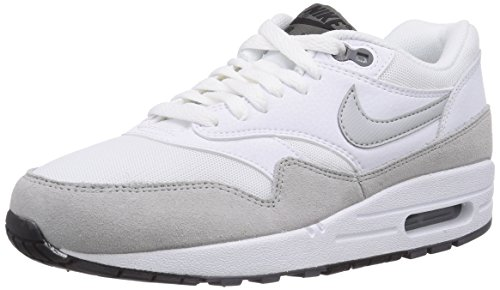 Nike Air Max 1 Essential, Sneakers Basses Femme Blanc (white/grey Mist-dark Grey-black 111)