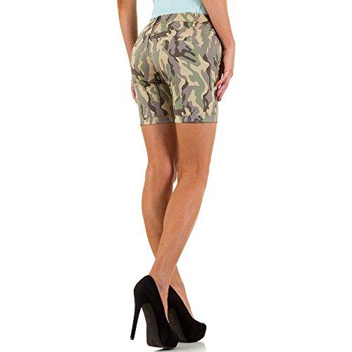 Camouflage Shorts Für Damen , Grün In Gr. M bei Ital-Design