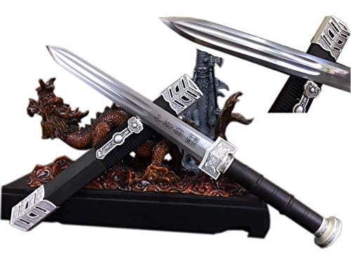 Dagger Carbon Sword - Dagger,Ruyi Knife Sword,High Carbon Steel,Alloy Fittings,Black Wood