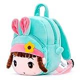 Gloveleya Girls Backpacks Toddler Backpack for Girls Bookbags kids Toys Plush Shoulder Bag Angela Girl Green 8 Inches