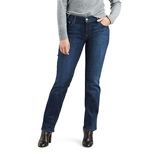Levi's Women's Straight 505 Jeans, Sleek Blue, 27
