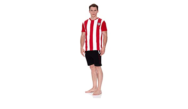Licencias Pijama Athletic Bilbao Blanco/Rojo/Negro M: Amazon.es ...