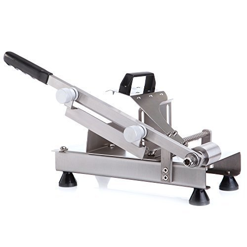 MOKAS Multi-function Food Slicer Meat Grinders Semi-automated Transmit Device Design and Knob Design to Ddjust the Slice Thickness, Stainess Steel (Mokas Meat compare prices)