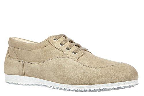 Hogan zapatos zapatillas de deporte hombres en ante nuevo tradition low top beig