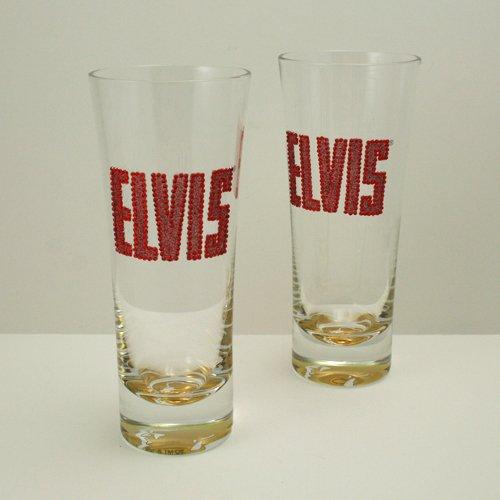 ELVIS 14 FL OZ Flared Hi-Ball Pilsner Glasses - SET Of TWO