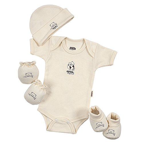 Baby Mink 100% Certified Organic Cotton Newborn 4 Piece Baby Shower Gift Set