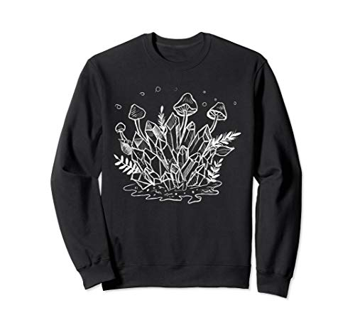 (Goth Crystals, Plants, & Mushrooms Forest Witch Sweatshirt)