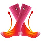 QILOVE Rechargeable Battery Heated Socks Men Women Cold Feet Heating Sox Winter Foot Warmer