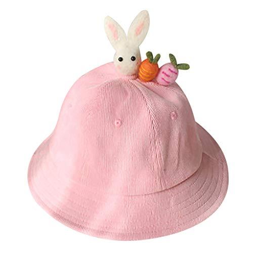 - LIULIULIU Parent-Child Fisherman Hat,Winter Warm Sunshade Sun Protection Cap (Pink2)