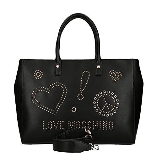 Sign Studs black Love bag shopping Moschino 5AxqxX7E