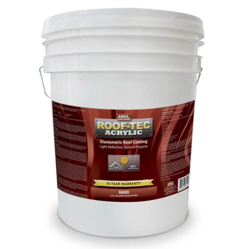 Price comparison product image Anvil ROOF-TEC Acrylic White Elastomeric Roof Coating - 5 Gallon
