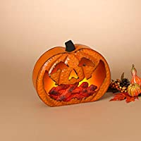 GIL 2422200 12.2 H B/O Lighted Metal Pumpk Christmas, 12InL x 4.3InW x 10.2InH, Multicolor