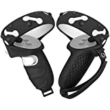 Eyglo Touch Controller Grip Cover & Adjustable Knuckle Strap for Oculus Quest 2 Anti Slip Anti-Throw Handle Protective Covers