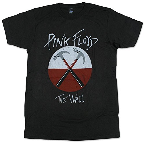Pink Floyd- Distressed Crossed Hammers T-Shirt, Coal, Size L