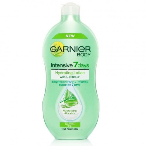garnier body intensive 7 days hydrating lotion normal skin moisturising aloe vera garnier. Black Bedroom Furniture Sets. Home Design Ideas