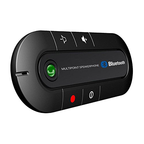XBOSS PAL Bluetooth Visor Speakerphone Car kit Wireless Handsfree Speaker Can connect 2 phone same time Universal for Any Car - Black by XBOSS (Image #5)