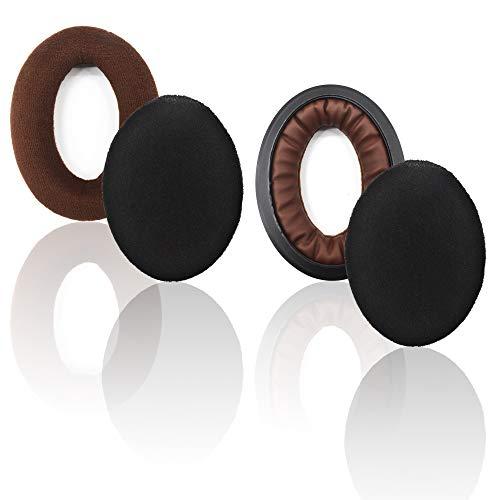 Replacement Ear Pads for Sennheiser HD515 HD518s HD555 HD569 HD559 HD595 HD598 HD599 HD558 PC360,Headphones Earpads Cushion with Velour Brown ()