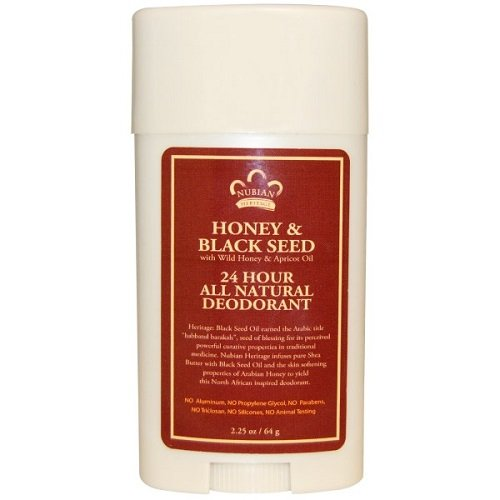 Nubian Heritage Honey and Black Seed Deodorant With Wild Honey and Apricot Oil, 24 Hour (Honey Seed)