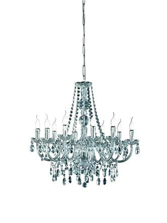 Trio Leuchten - Colgante con 10 luces, acrílico transparente