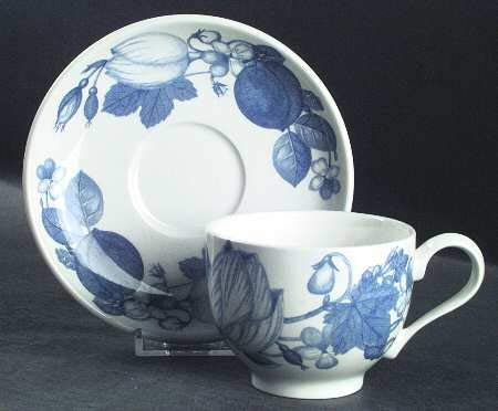 Portmeirion Harvest Blue Cup and Saucer Set