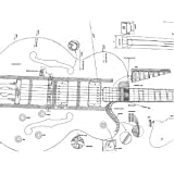 Set of 2 Guitar Plans - Gibson L5-CES and Gibson CS-356, -- Full Scale - Actual Size