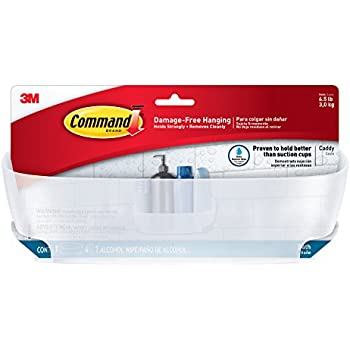 Amazon Com Command Shower Water Resistant Clear Frosted