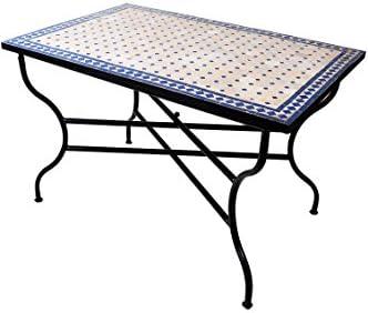 Marrakesch - Mesa de jardín (120 x 80 cm, cuadrada, plegable), diseño de mosaico: Amazon.es: Juguetes y juegos