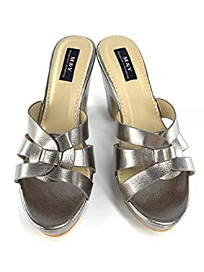 M&Y Silver Heel Sandal For Women