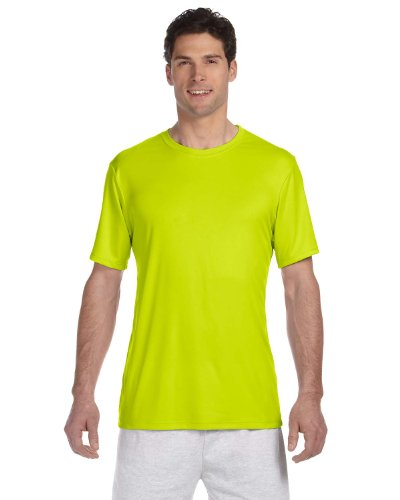 - Hanes Mens Cool Dri Performance T-Shirt, XL, Safety Green